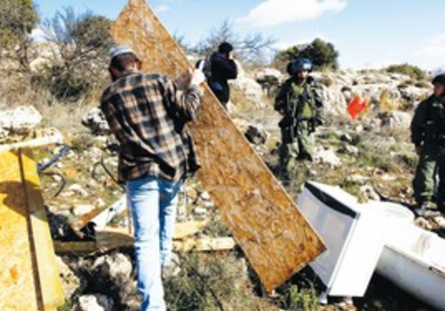 Mitzpe Avihai outpost demolition