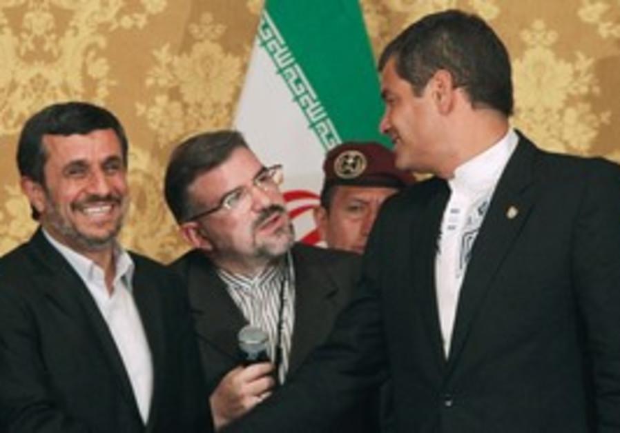 Ahmadinejad meets Ecuador President Rafael Correa