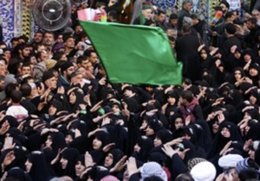 Shi'ite Muslims do Arbain observance, Iraq