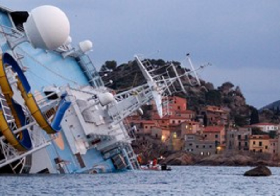 Capsized Costa Concordia cruise ship