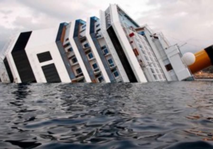 The Costa Concordia cruise ship