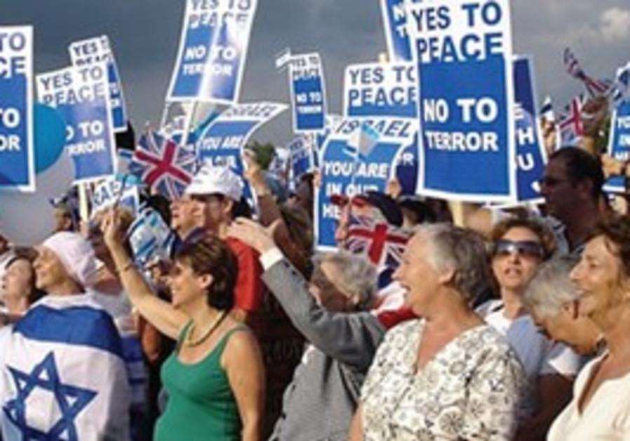 Pro-Israel protestors