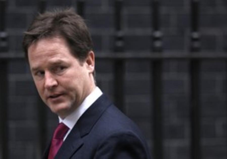 UK Deputy PM Nick Clegg