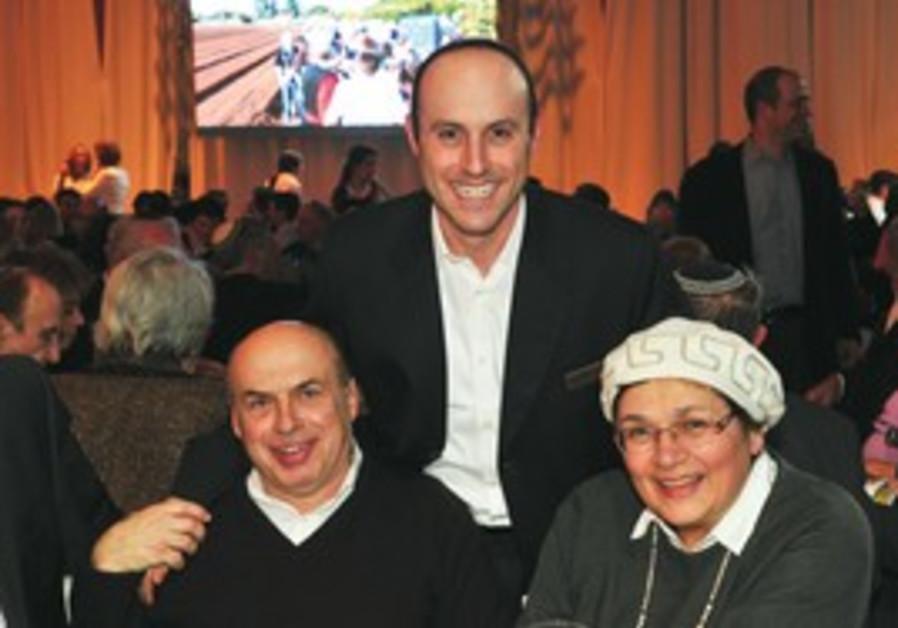 Joseph Gitler with Natan and Avital Sharansky