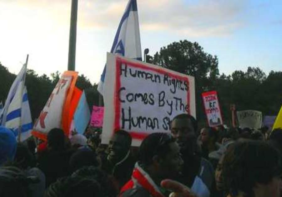 Ethiopian protest Knesset 521