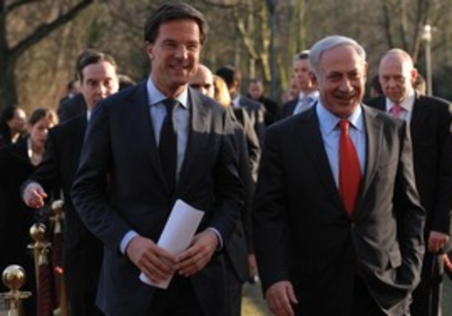 Netanyahu, Dutch Prime Minister Mark Rutte