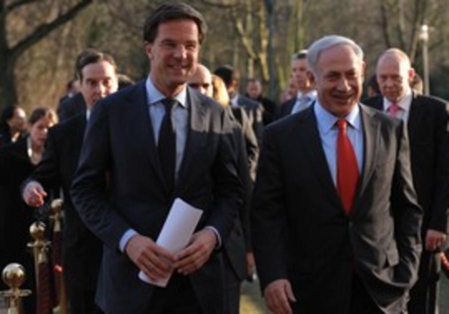 Netanyahu, Dutch Prime Minister Mark Rutte