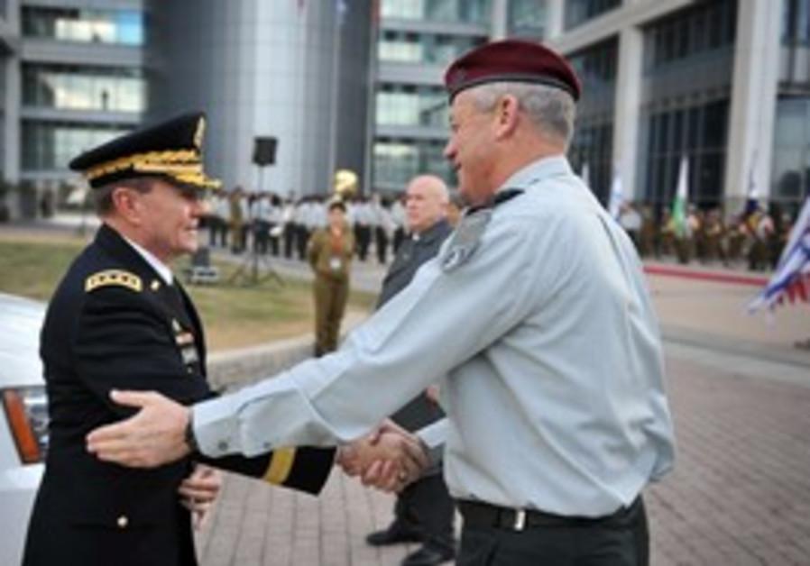 Gen. Martin Dempsey meets IDF Chief Benny Gantz