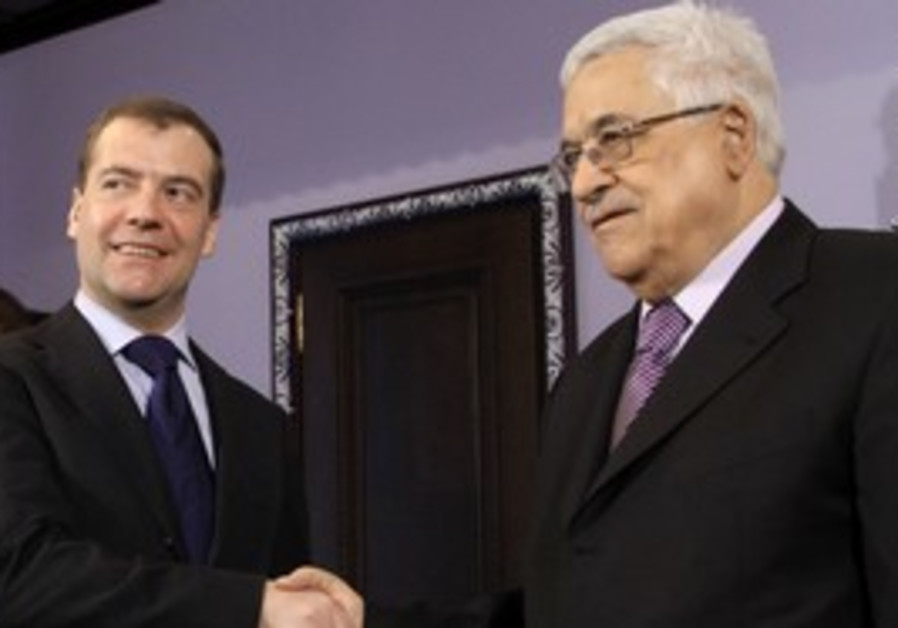 PA's Abbas meets Russia's Medvedev in Moscow