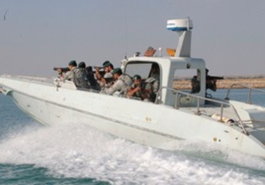 Iranian sailors in Strait of Hormuz