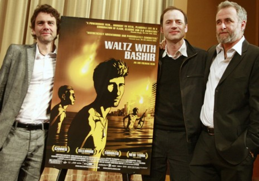 Producers Paul and Miexner and director Folman