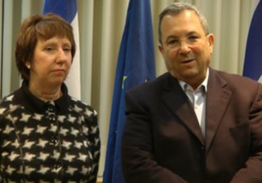 Ehud Barak and EU foreign affairs chief Ashton