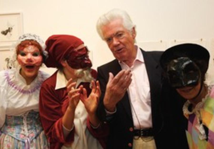 David Weston with actors