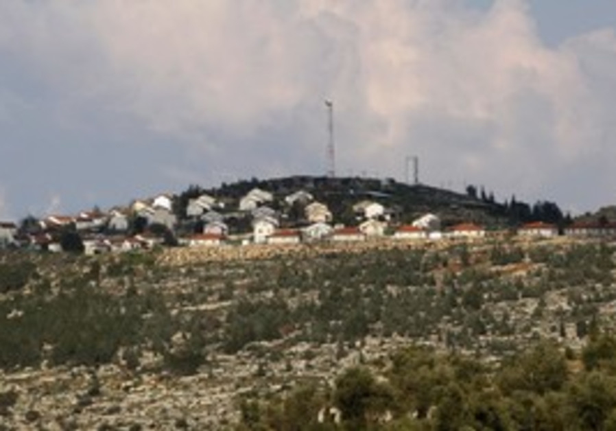 The Itamar settlement in the West Bank.