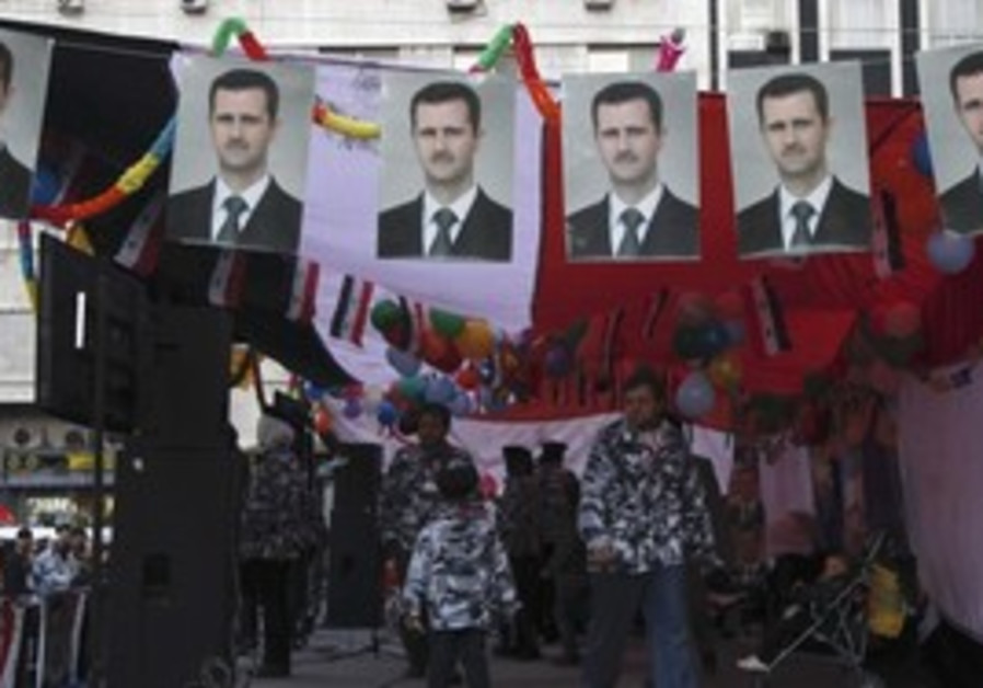 Assad flags, Damascus