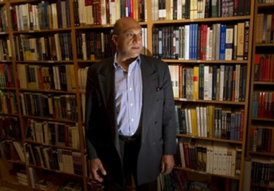 Palestinian book shop owner Munther Fahmi.