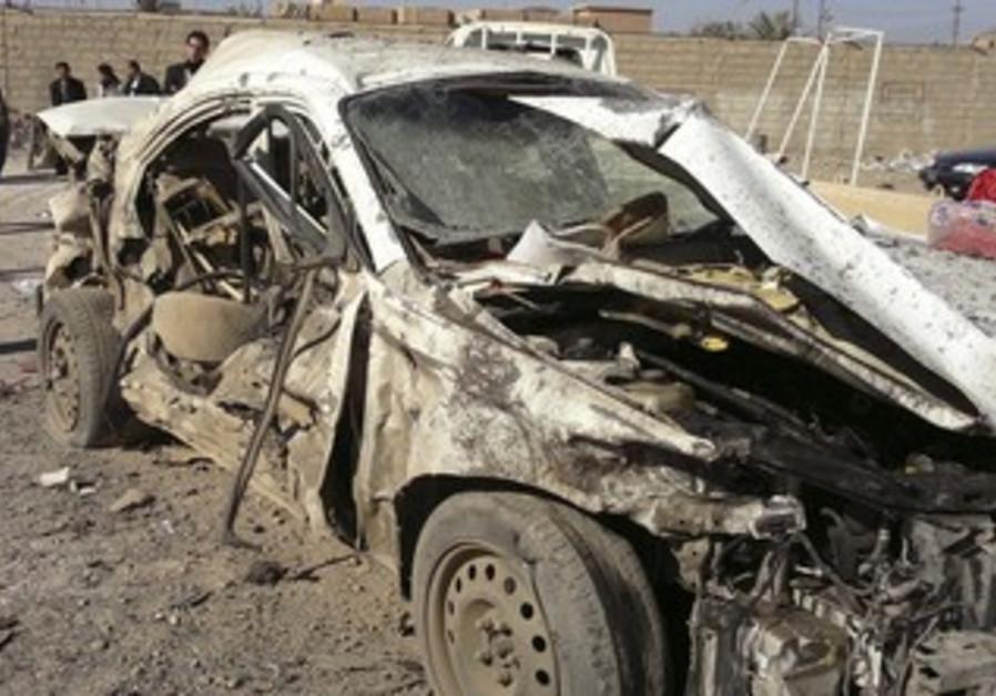 Aftermath of Iraqi bomb attack [file]