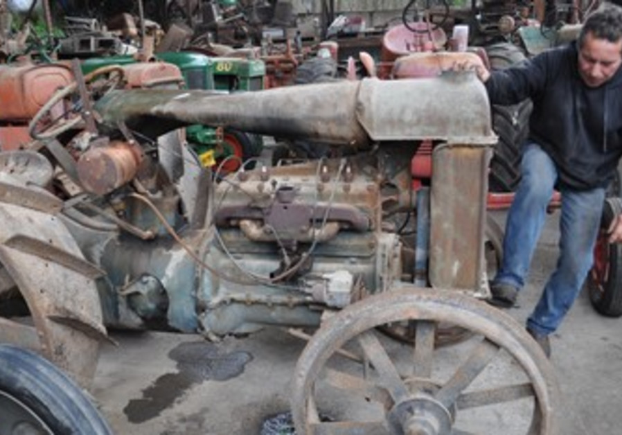Collection of ancient tractors