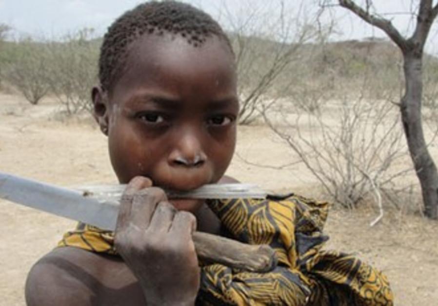 The Hadza of Tanzania live as hunter-gatherers.