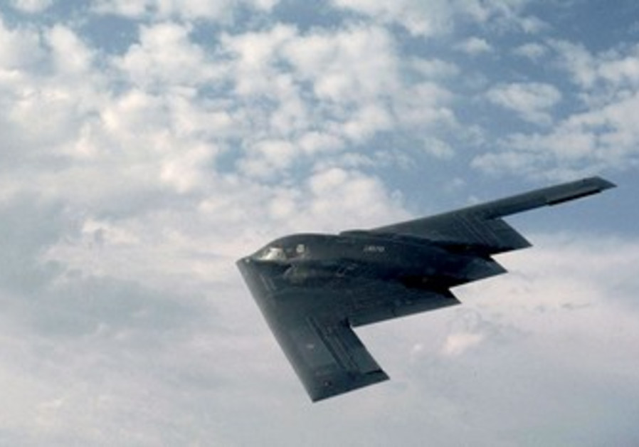 B-2 Bomber, capable of carrying MOP bombs