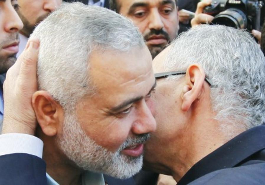 Hamas leader Ismail Haniyeh In Cairo