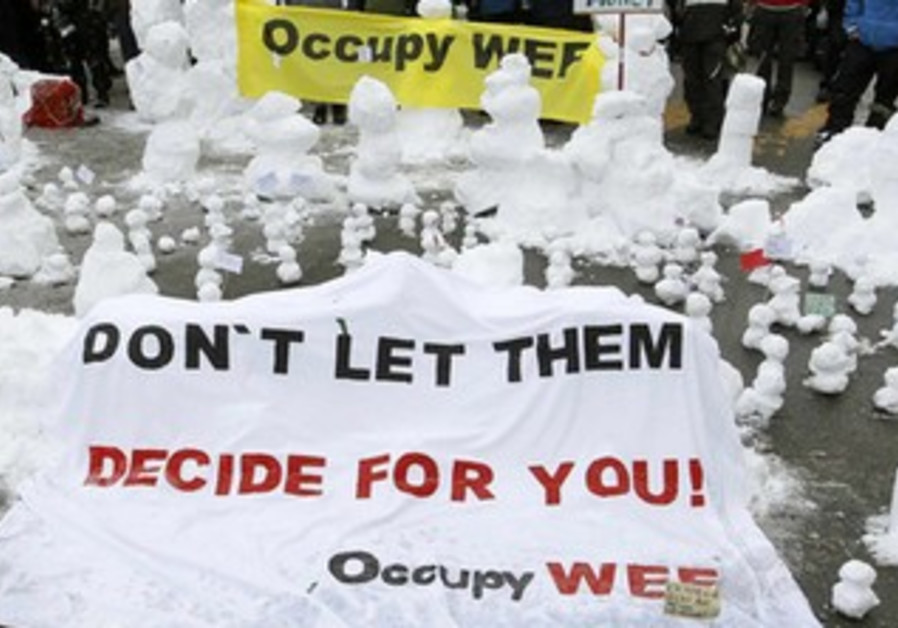 Protesters at WEF