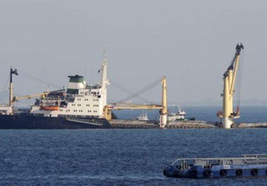 Iranian-flagged freight ship