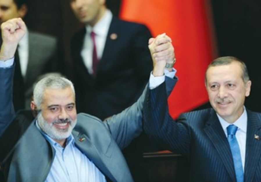 PRIME MINISTER Erdogan and Hamas leader Haniyeh