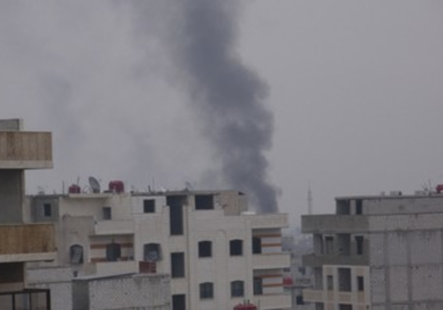 Smoke rising from Damascus suburb [illustrative]