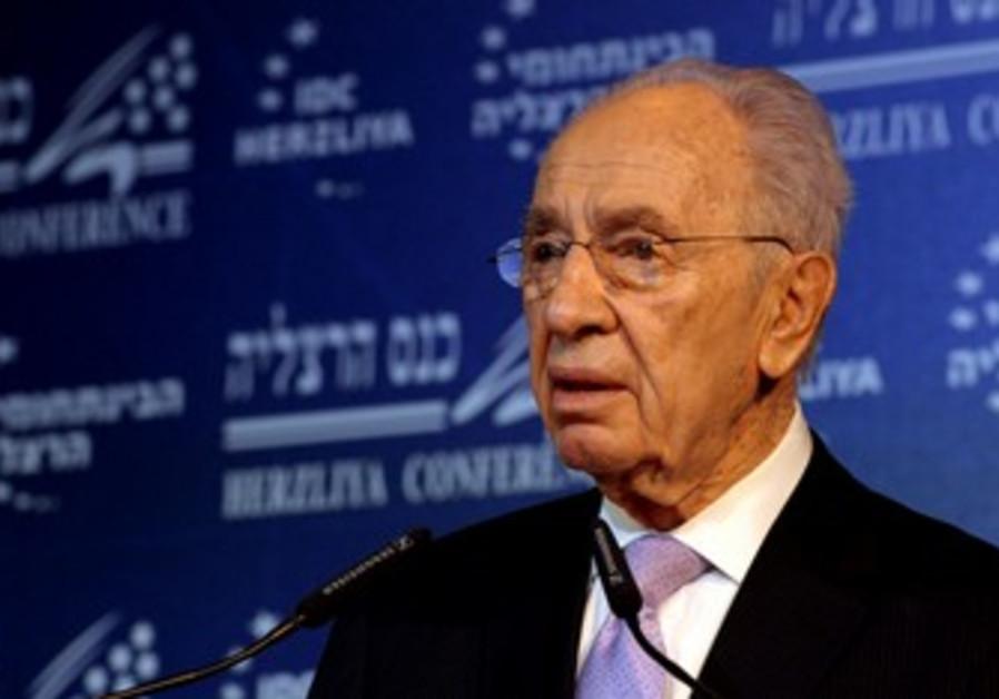 President Shimon Peres at Herzliya Conference