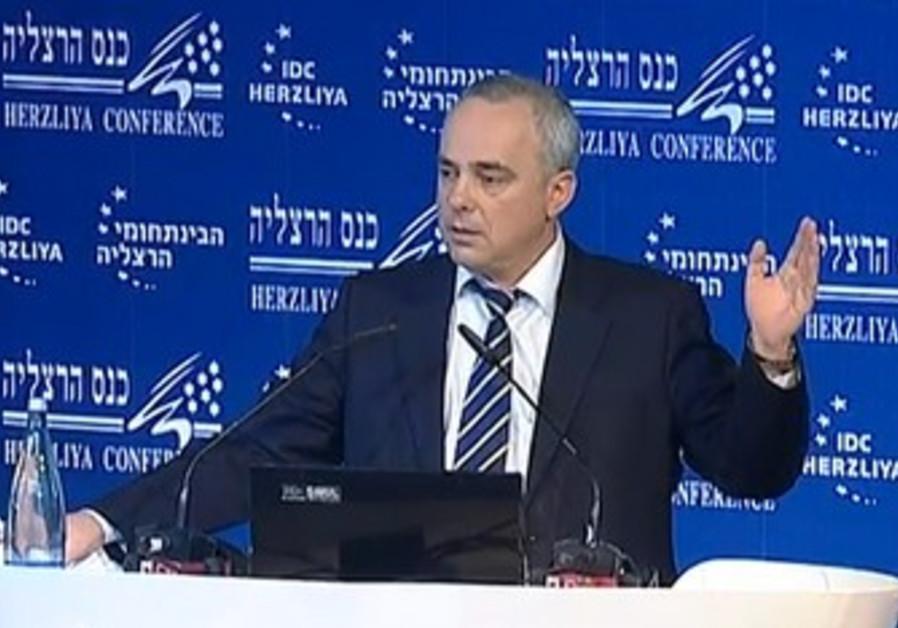 Finance Minister Yuval Steinitz, Herzliya Conferen