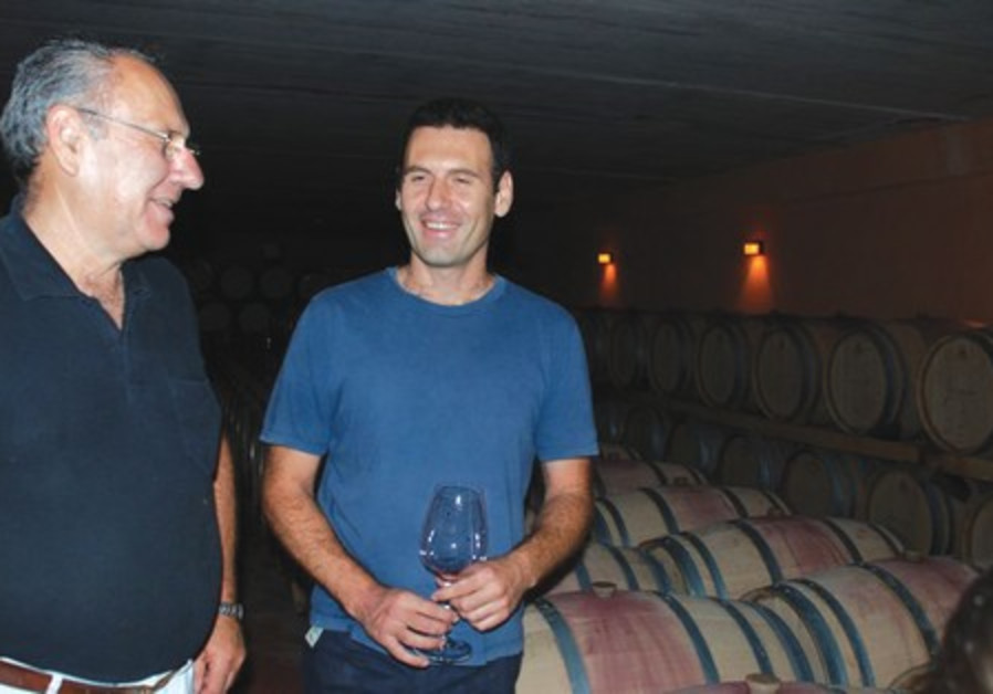 Israel and Golan Flam in their vineyard