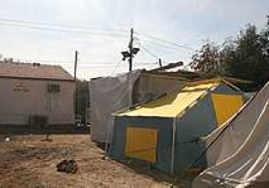 Tents set up near Tel Aviv (illustrative).