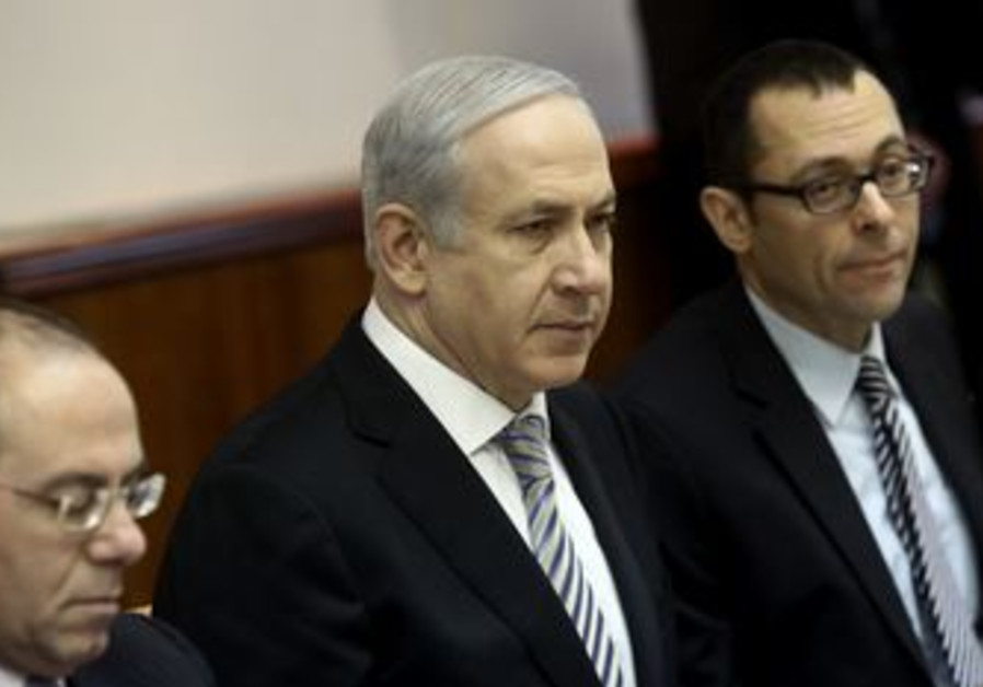 Prime Minister Netanyahu in cabinet meeting