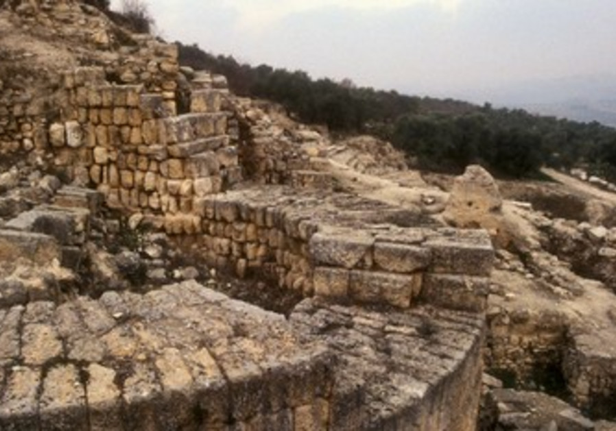 Samaria Hellenistic tower and Roman theater