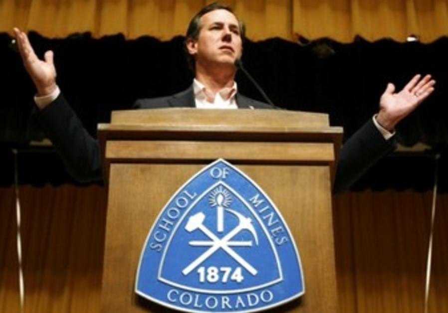 Santorum addresses college in Colorado
