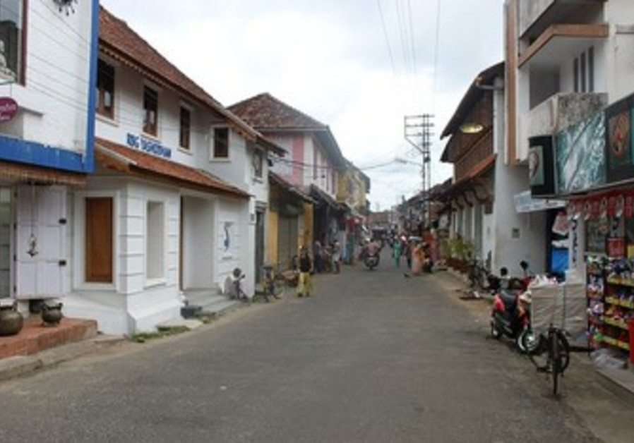 Jew Street in Mattancherry, India