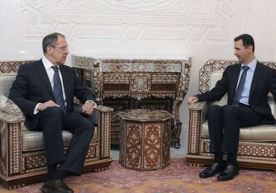 Syrian Pres. Assad, Russian FM Lavrov, Damascus