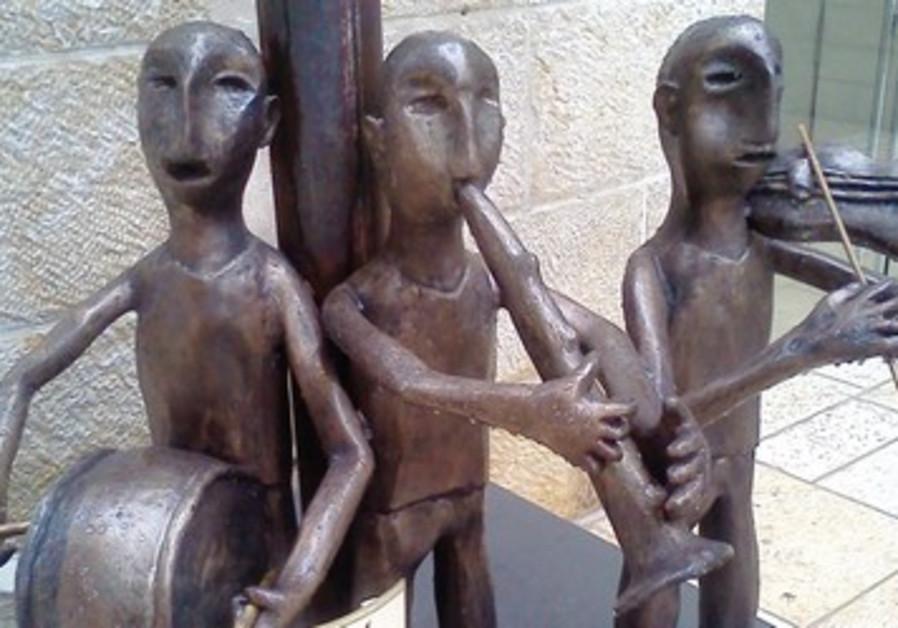 The bronze piece entitled 'Musicians in Auschwitz
