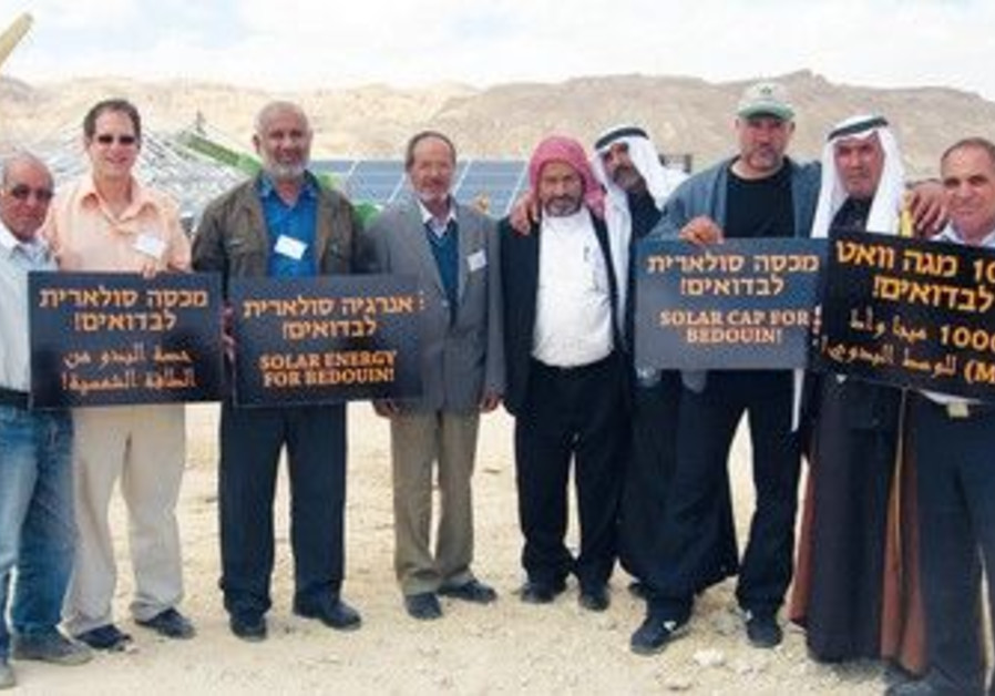 Beduin leaders and Arava Power Company president