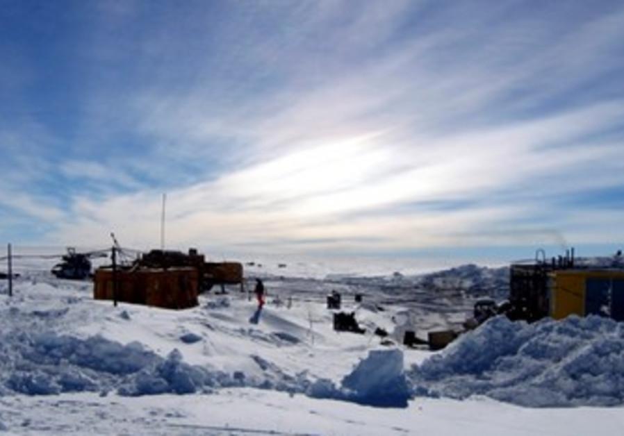 Vostock research camp in Antarctica
