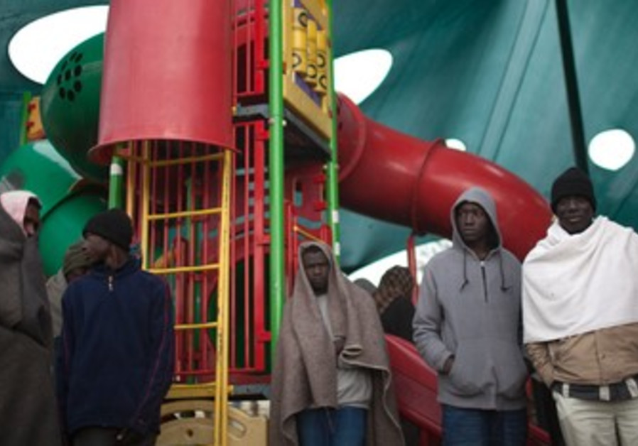 Migrants at Tel Aviv's Levinsky Park