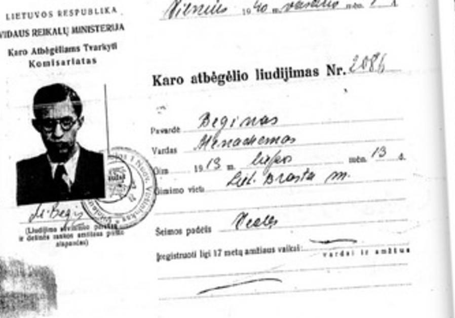 From the KGB file of Menachem Begin