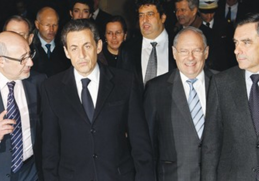Sarkozy at annual CRIF dinner in Paris