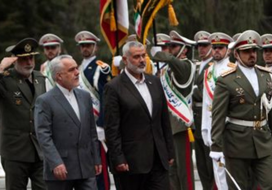 Hamas PM Ismail Haniyeh arrives in Tehran