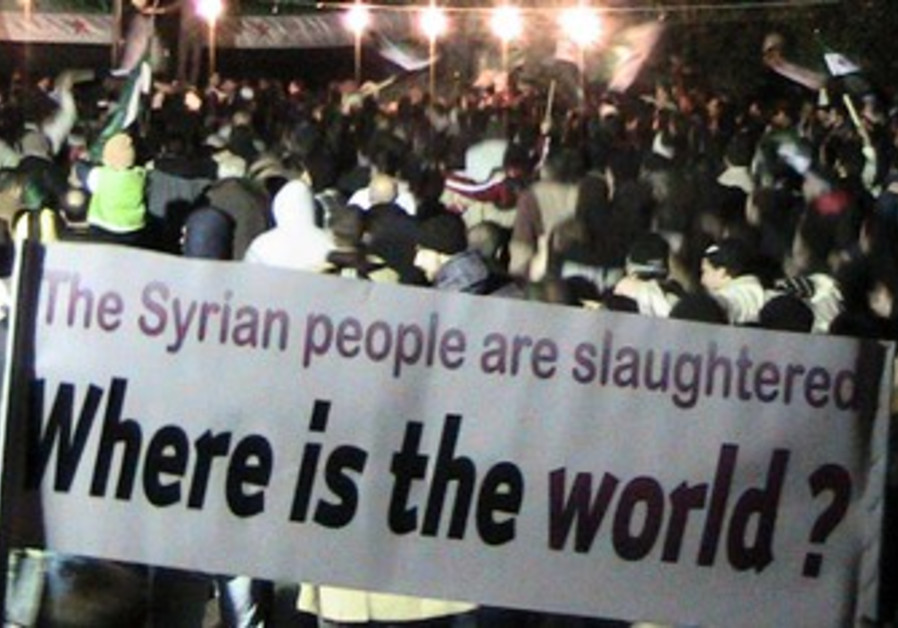 Anti-Assad protest