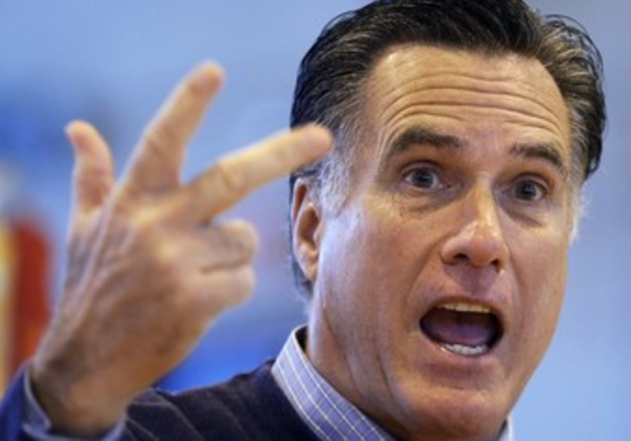 Republican prisdential hopeful Mitt Romney in Main