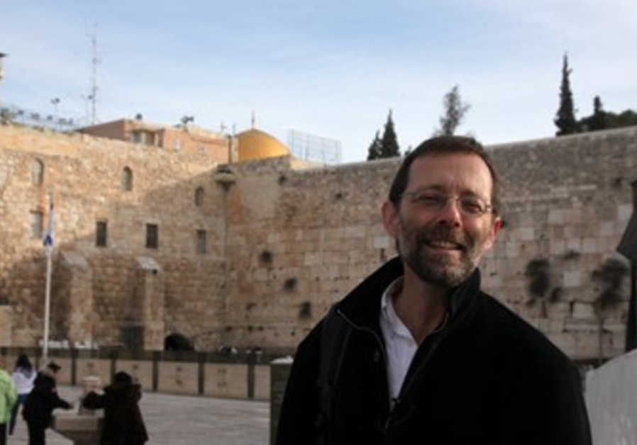 Likudnik Moshe Feiglin at the Kotel