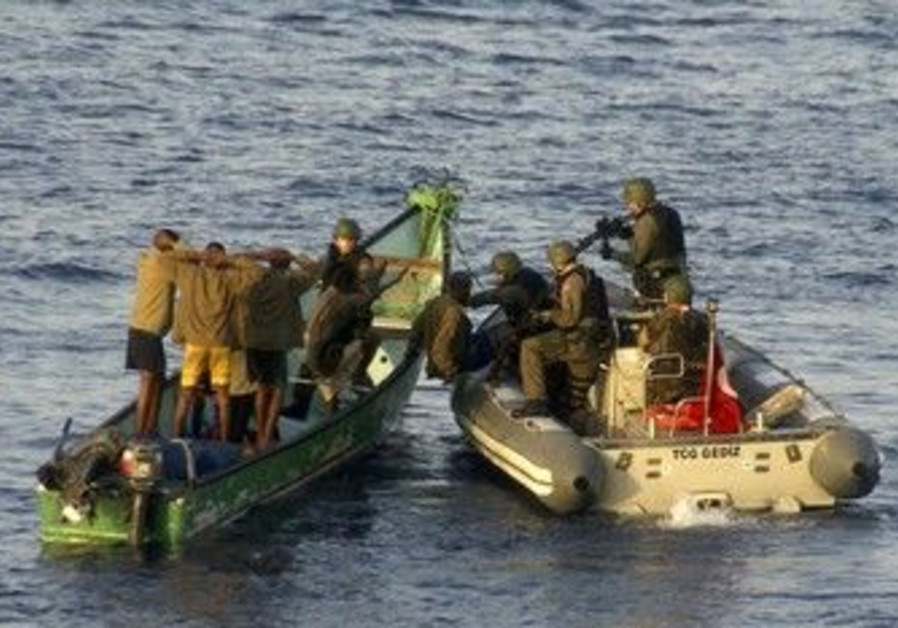 Turkish marines arrest suspected pirates [file]