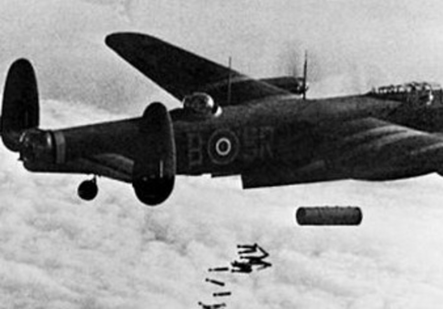 Royal Air Force Lancaster bombs [illustrative]